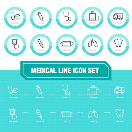 listened: Medical line Icon set