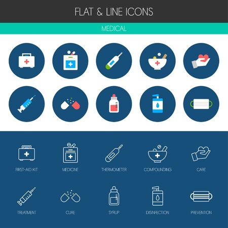 pill box: medical icon set