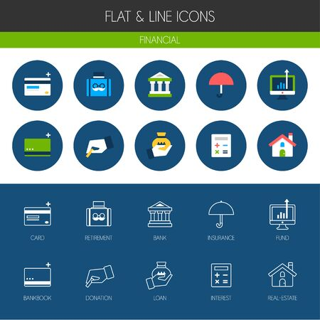 annuity: Banking Icon set Illustration