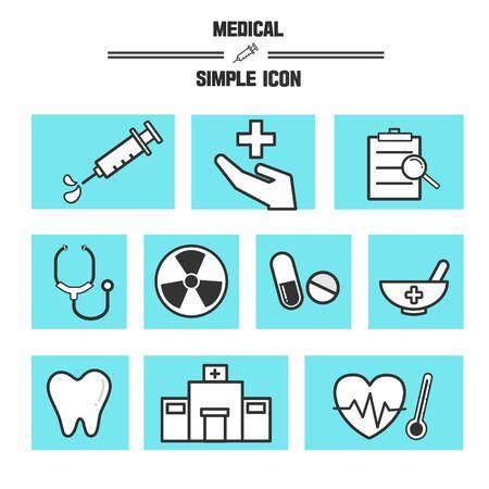 listened: Medical Simple Icon Set