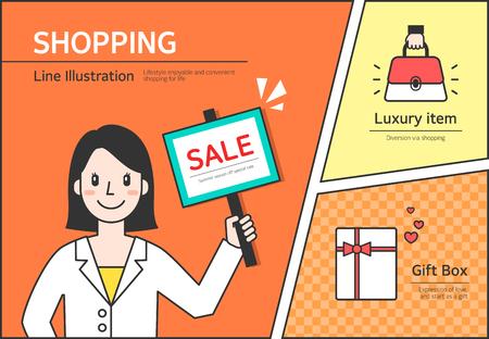 illust: Shopping Illustration