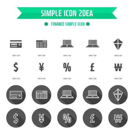 Finance Simple Icon Set