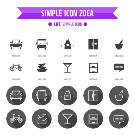 simple life: Life Simple Icon Set