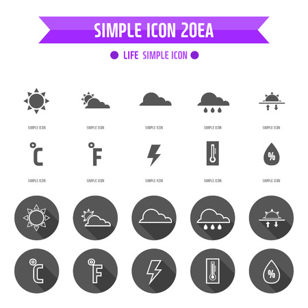 Life Simple Icon Set