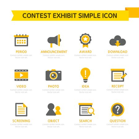 shopping questions: Contest Exhibit Simple Icon Set