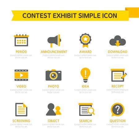 Contest Exhibit Simple Icon Set