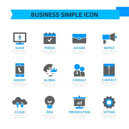 practical: Business Simple Icon Set