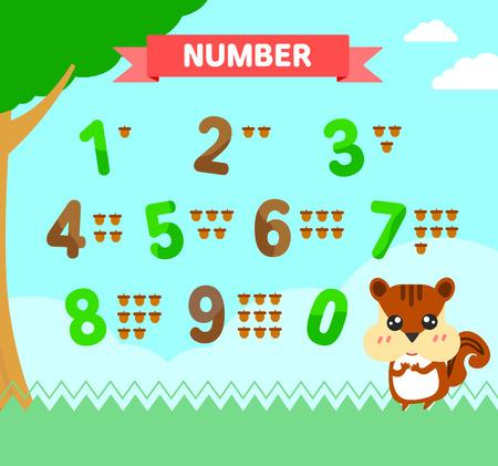 vowel: number illustration