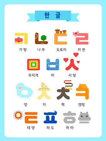 Hangul illustration