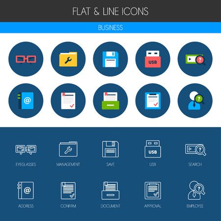 archiving: business icon set