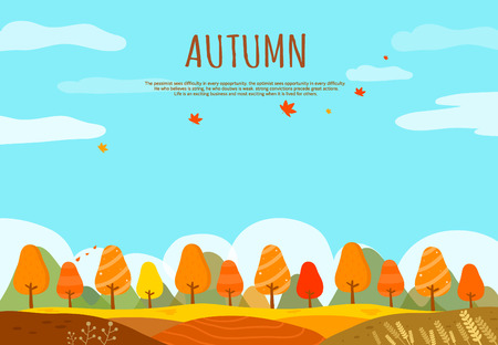 brown rice: Autumn Illustration
