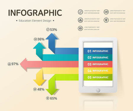 photoshop: education infographic