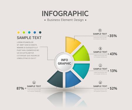 ppt: business infographic Illustration