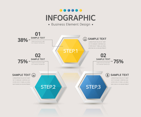 photoshop: business infographic Illustration