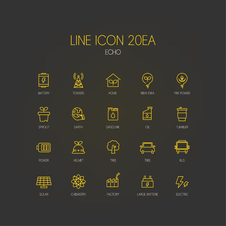 echo: echo line Icon Set
