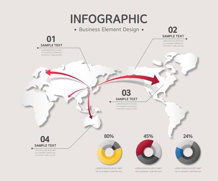 üzlet: üzleti infographic