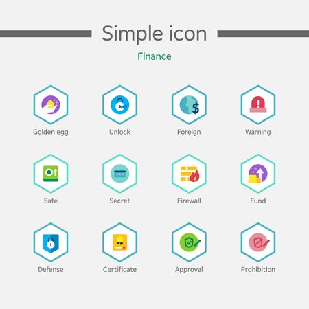 practical: Banking Simple Icon Set