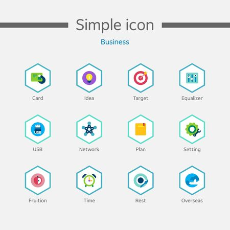groupware: Business Simple Icon Set