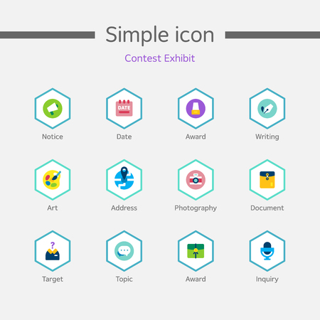 contest: Contest Exhibit Simple Icon Set