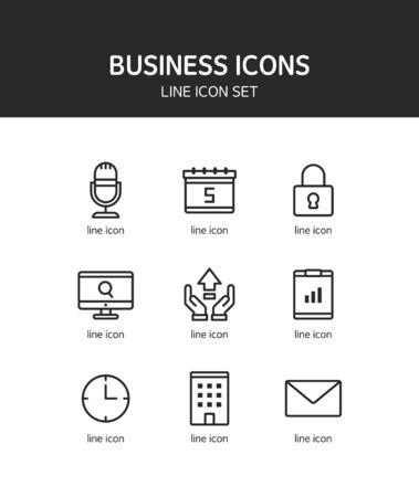 inquiry: Business line Icon set