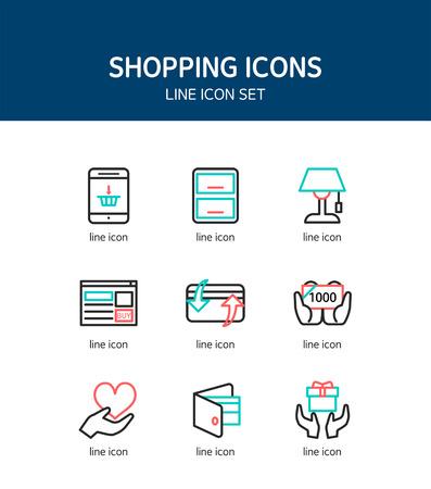 photoshop: Shopping Simple Icon Set
