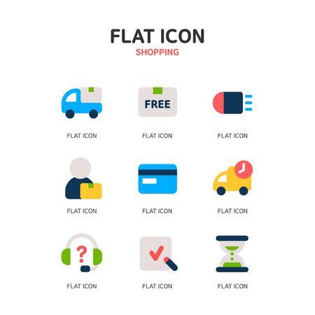 payee: shopping icon set