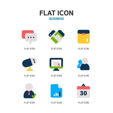 submission: business icon set