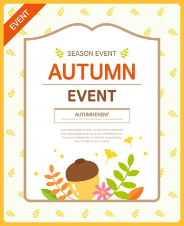 sensitivity: Autumn Event Template Illustration