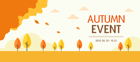 fall landscape: Autumn Event Template Illustration