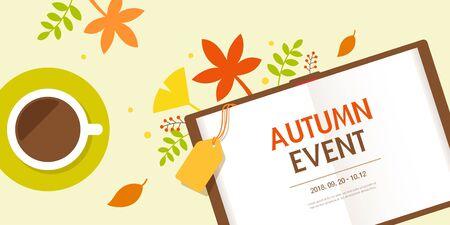 Autumn Event Template Ilustração