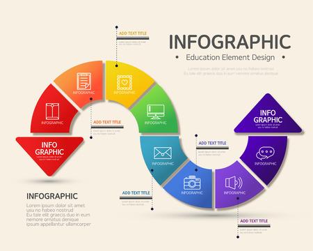 sobresalir: infograf�a educaci�n Vectores