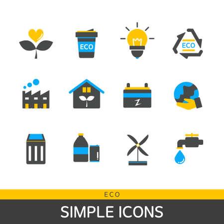 tumbler: Eco Simple Icon Set