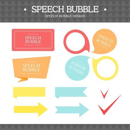 spacing: speech bubble icon set