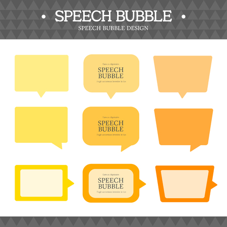 spacing: speech bubble icon set