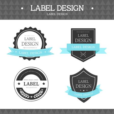 spacing: label icon set Illustration