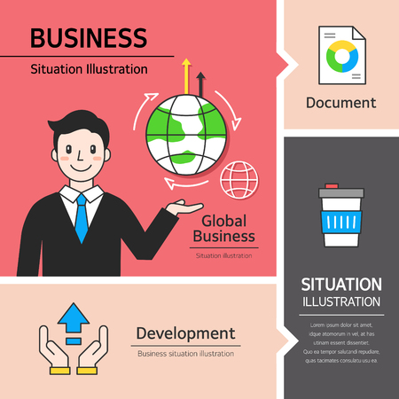 illust: Business Situation Illustration