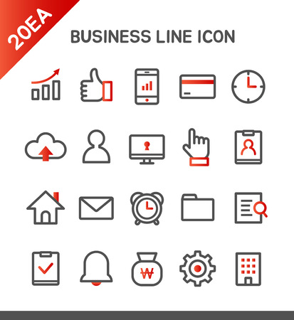 smart card: Business line Icon set
