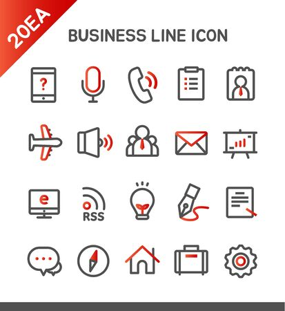 Business line Icon set