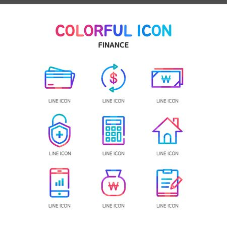 the settlement: Finance line Icon Set