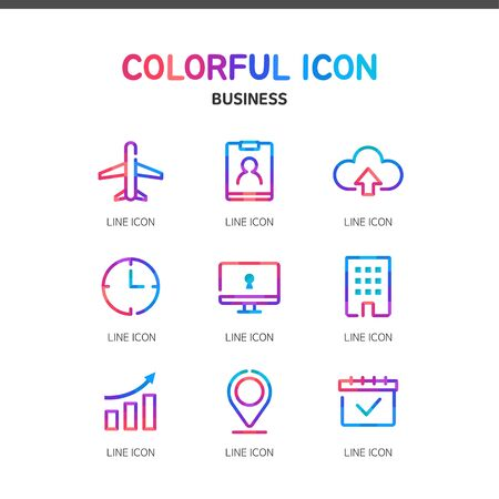 illust: Business line Icon set