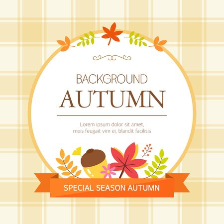 sensitivity: Autumn Background Illustration