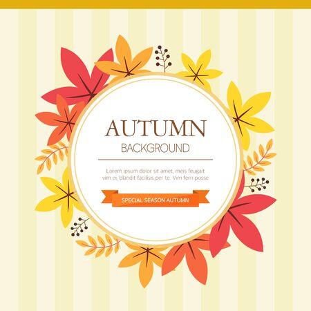 illust: Autumn Background Illustration