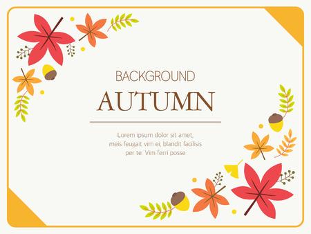 background herfst: Autumn Background Illustration