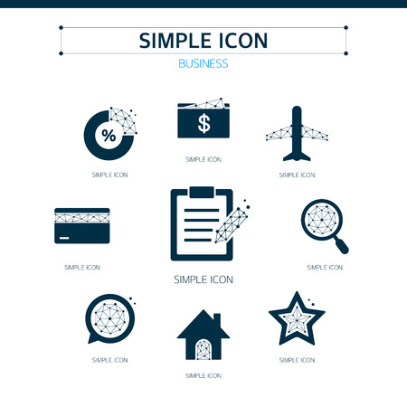 approval rate: Business Simple Icon Set