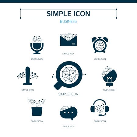 voice mail: Business Simple Icon Set