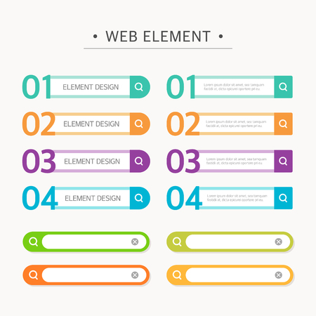 titles: Web Element Design Set