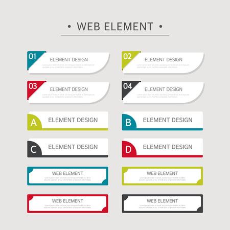 웹 디자인 요소 세트 일러스트