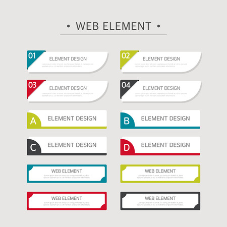 Web Element Design Set Banco de Imagens - 46633593
