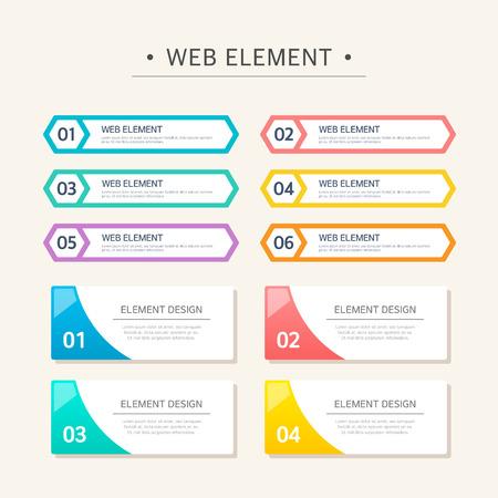 Web Element Design Set
