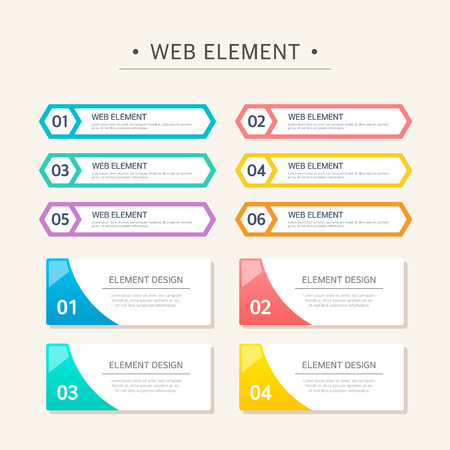 Web Elemento Diseño Set Foto de archivo - 46633613